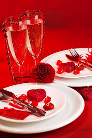 Images Of Valentines Day Table Decor image of beautiful valentine day dinner still life two glasses