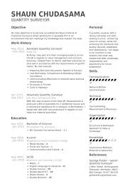 examples of resume personal objectives quantity surveyor resume samples visualcv resume samples database