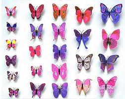 12pcs set pvc magnet 3d butterfly wall sticker decals home decor