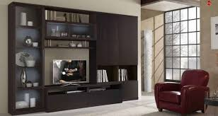 living room custom made modern wall unit of maple by barone
