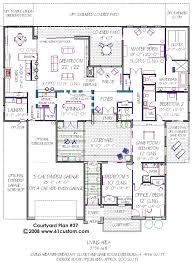 courtyard garage house plans modern courtyard house plan building plans car garage and house