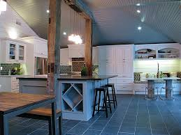 modern kitchen tile flooring contemporary kitchen with pendant light u0026 columns in houston tx