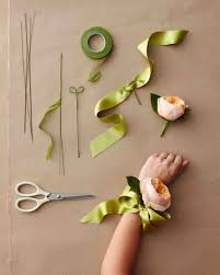 wrist corsage ideas wedding corsage ideas martha stewart weddings