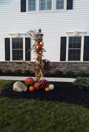 fall decorations for the front lamp post front porch pinterest