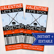 hockey valentines cards printable s day cards
