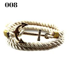 rope bracelet with anchor images Unisex vintage multilayer anchor rope bracelets deals whisperer jpg