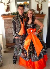 matching dress and tuxedo for redneck prom camouflage prom dress