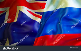 australia russia flags 3d waving flag stock illustration 708156376