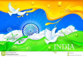 Indian Flag Gif Free Download Dove Flying With Indian Tricolor Flag Stock Illustration Image