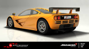 orange mclaren rear simraceway mclaren f1 lm