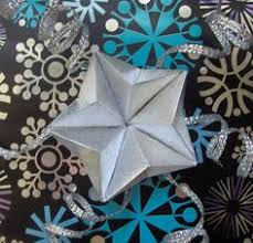 quick and easy origami star ornament to make christmas