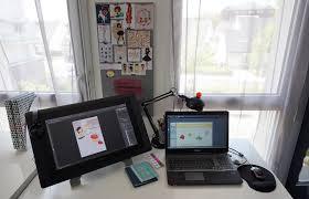 mon bureau mon bureau et comment je travaille leticia illustratrice freelance