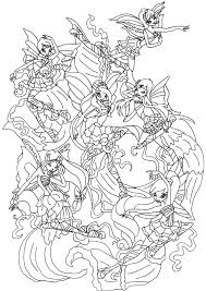 winx club coloring pages arterey info