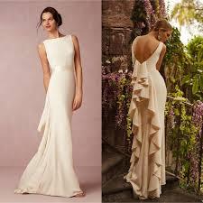 summer wedding dresses for guests 2016 summer satin bhldn wedding dress backless ruffles