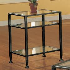 Overstock Sofa Table by Harper Blvd Bunch Metal Glass End Table 10389028 Overstock Com