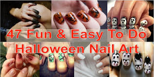 Nail Art Designs To Do At Home 47 Fun U0026 Easy To Do Halloween Nail Art Find Fun Art Projects To