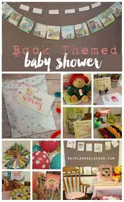 themed baby shower book themed baby shower a girl and a glue gun