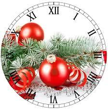 christmas clock face printable printies mini christmas