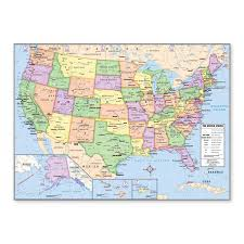 Images Of The Map Of The United States by Amazon Com Us And World Desk Map 13