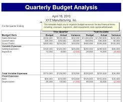 quarterly budget analysis template quarterly budget analysis