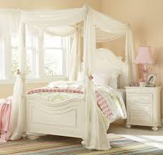 Amber Twin Canopy Bed Antique White Leons - Leons bunk beds