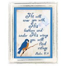 find refuge psalm 97 4 wood 9 x 7 inch framed inspirational wall