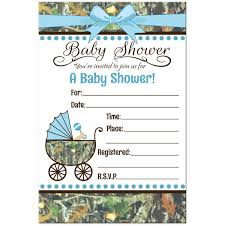 the unique camo baby shower invitations cafemomonh home design