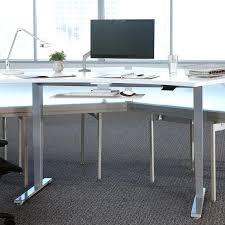 Height Of Computer Desk Float Humanscale U0027s Height Adjustable Sit Stand Table