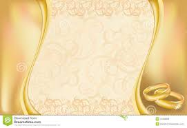 Blank Invitation Cards Templates Wedding Invitation Card With Golden Rings And Flor Royalty Free