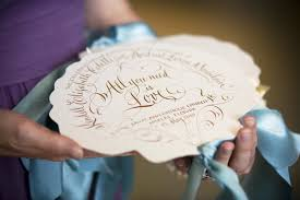 Fan Programs For Weddings Traditional Spring Wedding In Naples Florida Inside Weddings