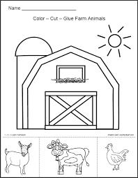 1 2 3 learn curriculum barn animals worksheet free