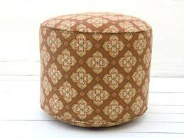 Orange Patio Cushions by Orange Outdoor Pouf Ottoman Home Designing Innovative Outdoor