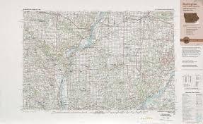 Iowa Illinois Map Burlington Topographic Maps Il Ia Mo Usgs Topo Quad 40090a1