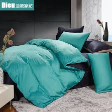 Black And Teal Comforter Teal Green And Black Solid Colored Beautiful And Soft 100 Cotton