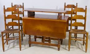 early american maple dining room chairs