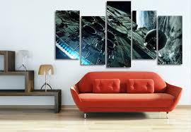 star wars living room aliexpress com buy 5 panel millennium falcon star wars painting