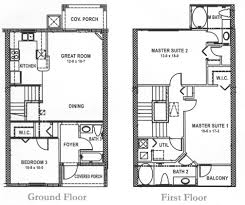 2 Story Great Room Floor Plans by Brilliant 3 Bedroom 2 Story House Floor Plans 800x1160