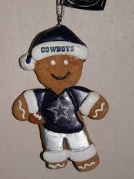 cowboys gingerbread man christmas ornament