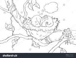 fantasy hand drawn coloring book cartoon stock vector 370279991
