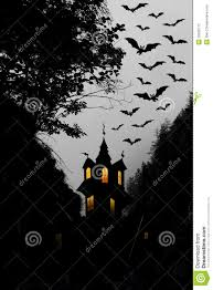 halloween night moon castle and bats stock photography image