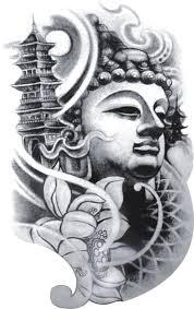 fake buddha large long lasting temporary tattoos designs