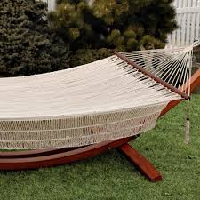 Bliss Hammock Stand Bliss Hammocks Hammock In Canvas White Dfohome