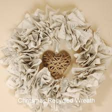 recycled paper christmas wreath recycle paper wreaths and newspaper