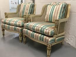 Antique Accent Chair Pair 2 Antique Provincial Back Armchairs Accent
