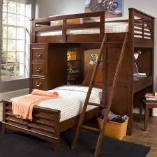 chelsea square youth twin loft bed unit with built in desk and