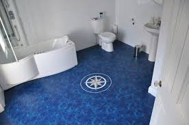 Bathroom Flooring Vinyl Ideas Flooring Ideas Vinyl Bathroom Floor With Hexagon Tile Pattern By