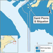 map of st and miquelon map of and miquelon and its exclusive economic zone eez