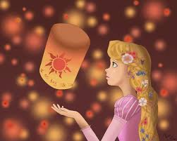 tangled rapunzel lantern painting information