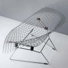 large diamond chair by harry bertoia for knoll zero lab