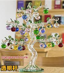 glass apple tree ornaments 36pcs hanging apples home decor